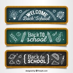 Free vector Hand drawn back to school banners Vector Hand, Vector Free, School Design, Back To School, How To Draw Hands, School Banners, Hand Drawn, Hand Written, Hand Drawings