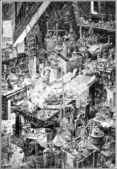 Bernie Wrightson - Illustration from 'Frankenstein' [1983]