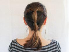 Sleek Ponytail |3 Updos for Dirty Hair