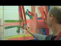 HOW TO PAINT AN ABSTRACT: Jillian Helps Me Loosen Up - YouTube