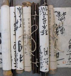 Japanese hand made scrolls: photo by dwatsonartist, via Flickr