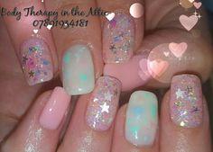 Angelic pastel valentine   #gelllmanicure @gel_two @thecreativebeautygroup #pastelsparklevalentine #cloudnine #puppylove #peppermintpony #froufroublue #angelic #diamondglitters #nailart #nailledit #nailstagram #nailswag #healthynails #21dayswear #holistictherapy #beautytherapy @diamondglitters