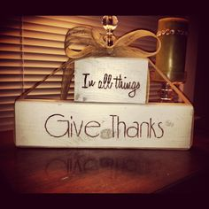My thanksgiving creation... Wood, spray paint, and a sharpie! Easy DIY!