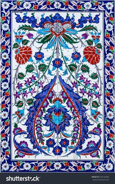 mosaic tile, decoration. Turkish oriental pattern