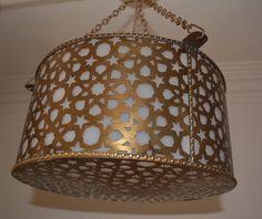 Moroccan Silver Plated Brass Hanging Star Lamp Lantern   Star lamp ...