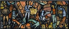 """Twentieth Century British Art by Fyffe Christie: """"Roll Up! Sketchbook Inspiration, Watercolour, Stained Glass, Spiderman, Religion, British, Collage, Ink, Modern"""