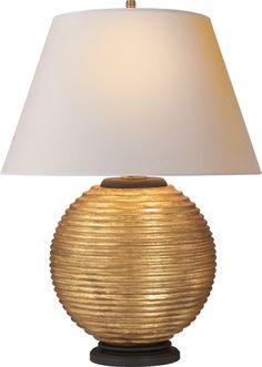 "HUGO TABLE LAMP Height: 25 1/2"" Width: 20"" Base: 6 1/2"" Round Shade: 12"" x 20"" x 11 1/2"" Wattage: 1 - 150 Watt Type A Socket: Dimmer"