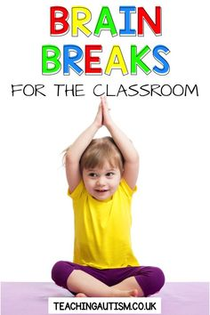 Brain breaks are great to use your classroom or homeschool room to give your kids a break and get ready to learn again. They're also great for indoor recess. Your preschool, kindergarten and elementary students will love these brain breaks. Sensory Activities, Hands On Activities, Physical Activities, Autism Classroom, Special Education Classroom, Classroom Ideas, Classroom Resources, Teaching Resources, Classroom Management