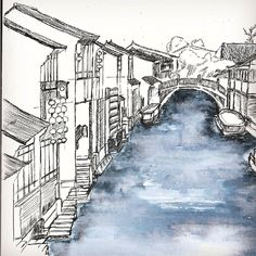 Have you been here? China Viennese?  Li Jiang. Quiet relax  #sketchbook#travel#artist#tumblr#artistic#artists#arte#dibujo#myart#nawden#illustration#graphicdesign#graphic#illustrator#travelphotography#artoftheday#trending#drawings#markers#paintings#watercolor#ink#sketch#masterpiece#awesome#vsco#viral#magic#zen#pencilguys