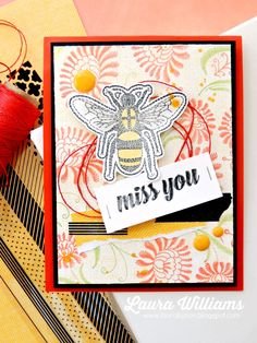 Handmade miss you card | project by laura williams featuring the mystic romance collection plus liquid color from fun stampers journey, Stitched Dreams and Embroidered Greetings Stamp Sets
