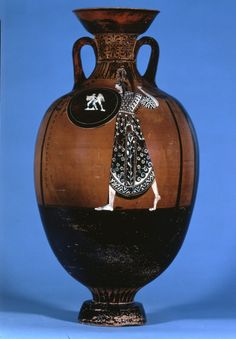 Panathenaic Amphora Made Attica, Found in Libya 425-400 BC Pottery Panathenaic…