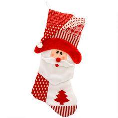 33-inch Red and White Santa Super Stocking #Santa #stocking #Christmas $24.99