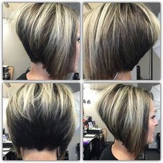 78 Bob and Lob Hairstyles That Will Make You Want Short Hair - Hairstyles Trends Inverted Bob Haircuts, Stacked Bob Hairstyles, Short Bob Haircuts, Cool Hairstyles, Stacked Inverted Bob, Braided Hairstyles, Short Stacked Bobs, Layered Bobs, Medium Hairstyles