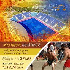 ਪੰਜਾਬ ਵਿੱਚ ਖੇਡਾਂ ਨੂੰ ਉਤਸ਼ਾਹਿਤ ਕਰਨ ਦੀ ਸਾਡੀ ਜੋ ਵਚਨਬੱਧਤਾ ਸੀ ਉਹ ਪੰਜਾਬ ਵਿੱਚ ਬਣਾਏ ਗਏ ਨਵੇਂ ਸਟੇਡੀਅਮ ਅਤੇ ਜਿੰਮਖਾਨਿਆਂ ਵਿੱਚ ਝਲਕਦੀ ਹੈ। ਹਰ ਸਾਲ ਵਿਸ਼ਵ ਕਬੱਡੀ ਕੱਪ ਦਾ ਹੋ ਰਿਹਾ ਸਫ਼ਲ ਆਯੋਜਨ ਵੀ ਸਾਡੇ ਪੰਜਾਬੀਆਂ ਲਈ ਮਾਣ ਦੀ ਗੱਲ ਹੈ। Our commitment to encouraging Sports in Punjab gets reflected in the new world class #Stadiums & #Gyms built all across Punjab. Successful organization of Kabaddi World Cup Kabbadi every year is another matter of proud for all Punjabis #AkalisforPunjab #ProudtobeAkali