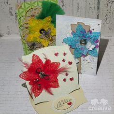 H♥BBYSYSLER: Kort med stor blomst og bugs