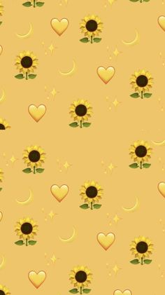 Pin on sunflower wallpaper Tumblr Wallpaper, Wallpaper Pastel, Iphone Wallpaper Yellow, Emoji Wallpaper Iphone, Cute Emoji Wallpaper, Disney Phone Wallpaper, Sunflower Wallpaper, Iphone Background Wallpaper, Aesthetic Pastel Wallpaper
