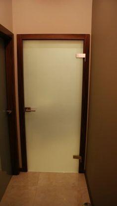 Zdjęcie: Drzwi szklane wewnętrzne, szkło hartowane laminowane 4x4x1