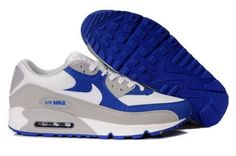 Nike Air Max 90 Mens White Royal Grey Trainers UK