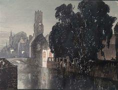Modern Printmakers: Bruges by night: Frank Brangwyn & Yoshijiro Urushibara