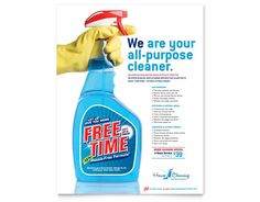 brochure templates for cleaning services Cleaning Service Flyer, Cleaning Flyers, Cleaning Services, Business Flyer, Business Planning, Babysitting Flyers, Spring Cleaning, Brochure Template, Spray Bottle