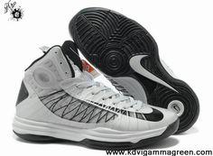 Fashion Wolf Grey Black Nike Lunar Hyperdunk 2013 Basketball Shoes Store