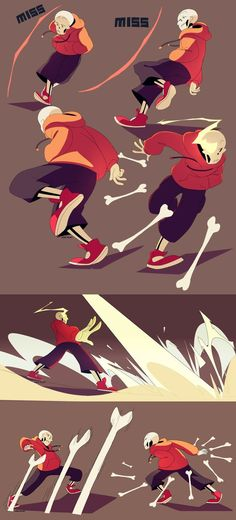 I imagine Papyrus would fight with like a bone sword because he learns from Undyne and therefore he'd fight differently than Sans