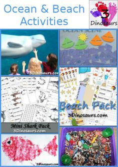 Ocean & Beaches Activities & Free Printables from 3 Dinosaurs