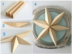paper stars. This would be cute for Christmas