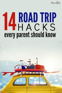 OMG! These road trip hacks make traveling with kids so much easier. Activities and snack ideas to survive that long car ride.