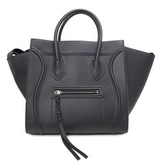Celine Black Grained Calfskin Medium Phantom Luggage Tote c53c86cf2d20c