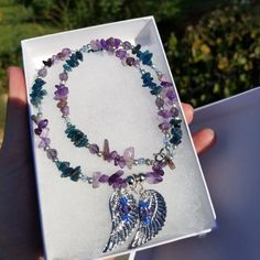 Necklace I made as a gift! And can be special made for you too! I am now offering international shipping! So feel free to message me and we can get you set up with something beautiful right away!