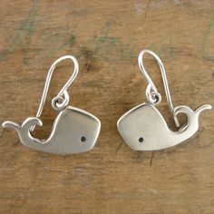 Ok, so if anyone wants to get me a sweet treat for Valentine's Day....  Spouts the Baby Whale Earrings by marmar on Etsy, $44.00