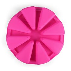 Delidge 8 Cavity Silicone Portion Cake Mold Scottish Scone Cornbread Pan Pizza Slices MouldPink -- Click on the image for additional details.