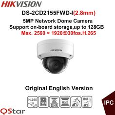 149.99$  Buy here - Hikvision Original English Version Surveillance Camera DS-2CD2155FWD-I(2.8mm) 5MP Dome IP Camera H.265 IP67 on-board storage  #SHOPPING