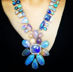 Beautiful fiery opal and diamond creations by Irene Neuwirth ~ Instagram