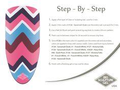 Pink Missoni step-by-step Bio Sculpture Nails, Sculpting Gel, Nail Art Brushes, Sculpture Ideas, Nail Art Galleries, Missoni, Art Tutorials, Fun Nails, Nail Ideas