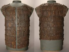 European coat of plates from a mass grave, battle of Visby, fought in July 1361 on the Swedish Baltic island of Gotland, between invading Danish troops and the local, Gutnish, forces. The Danish won a decisive victory. Due to the heat, the dead had to be disposed of quickly, and many were buried in their armour. The archaeological excavation of one of the mass graves, in the 1930s, revealed over 1000 skeletons. Visby #24.