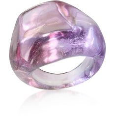 Antica Murrina Sparkle - Murano Glass Ring ($41) ❤ liked on Polyvore featuring jewelry, rings, accessories, purple, anillos, jewelry & co, antica murrina, murano glass rings, purple rings and handcrafted rings