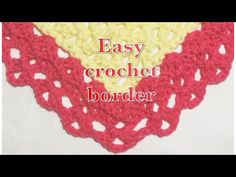 Easy crochet fan stitch border for baby blankets #99 - YouTube