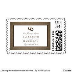Country Rustic Horseshoe & Brown Burlap Wedding