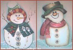 pintura em tecido boneco de neve - Pesquisa Google