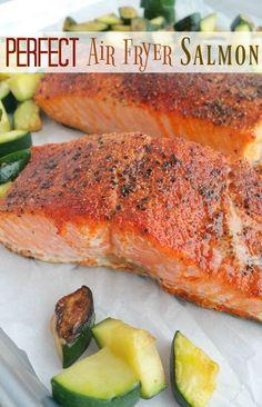 Air Fryer Recipes Potatoes, Air Fryer Fish Recipes, Air Frier Recipes, Air Fryer Dinner Recipes, Power Air Fryer Recipes, Air Fryer Recipes Vegetables, Vegetable Recipes, Healthy Salmon Recipes, Seafood Recipes