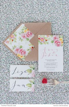 #Floral is the way to go this #Spring! Gorgeous #stationery we adore! Featured in @sarie tydskrif | Photographer: Christine Meintjes Photography | Styling: Anneke Roux from The Pretty Blog | Hair & Make Up: Alicia Buckle | Floral Design: Leipzig Weddings & Functions | Venue: Landtscap | Wedding Cake: Nelle Cakes | Crockery: Mervyn Gers Ceramics | Stationery: Susan Brand Design | Hertex: Floral Material