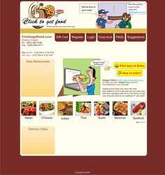 Another page design for a food delivery company. The top right image was actually a gif animation.