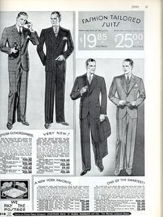 mens fashion 1930 suits for prospero?