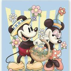 #Disney #MickeyandMinnie #Easter