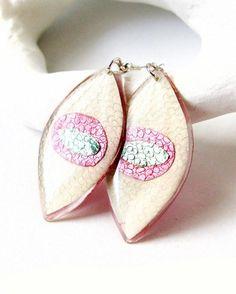 Evil Eye Pastel long earrings
