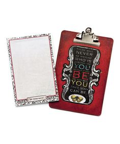Take a look at this 'Be Yourself' Clipboard & Notepad by DEMDACO on #zulily today!