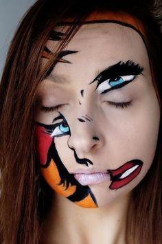 abstract makeup @wizaz21 - creative look for halloween