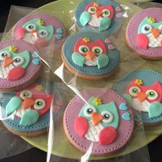 Owls fondant cookies